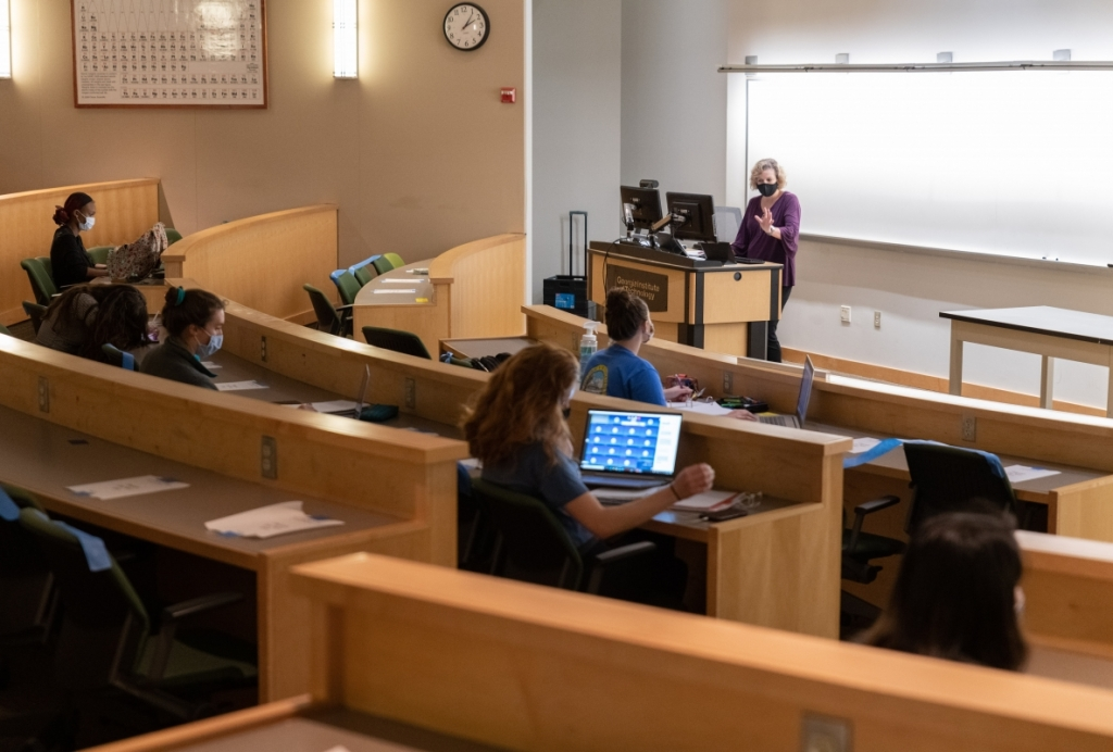 Teaching in GT Lecture Hall
